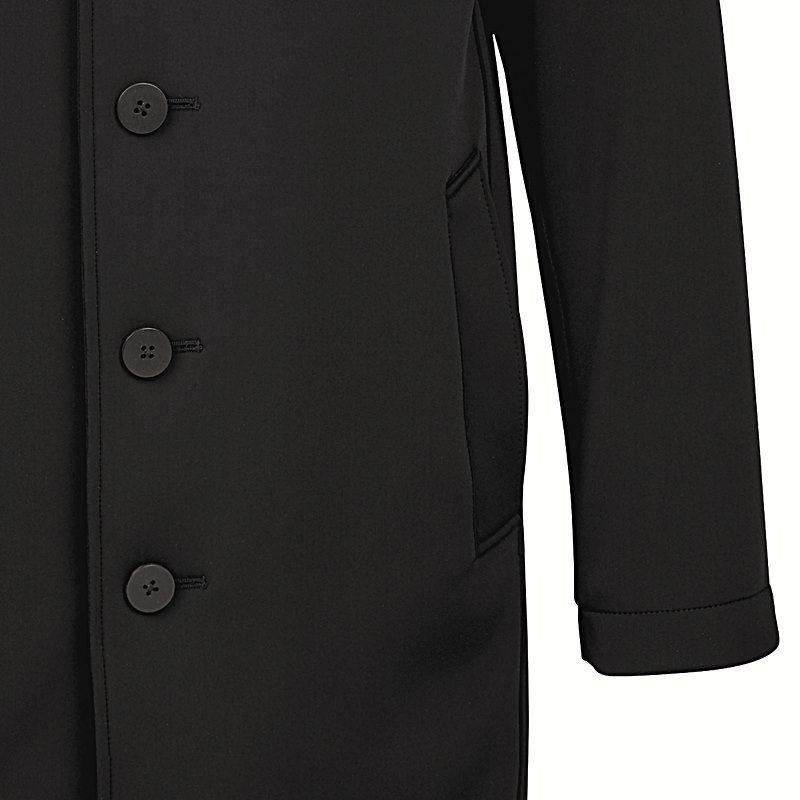 Manteau Softshell Homme, Noir, Col relevé, Très chic, 2