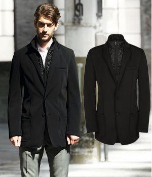Veste Softshell Homme, Noire, Très chic et confortable, Coupe vent amovible
