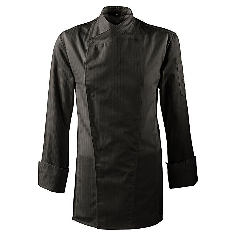veste de cuisine avec bande satin boutons pression masqu s