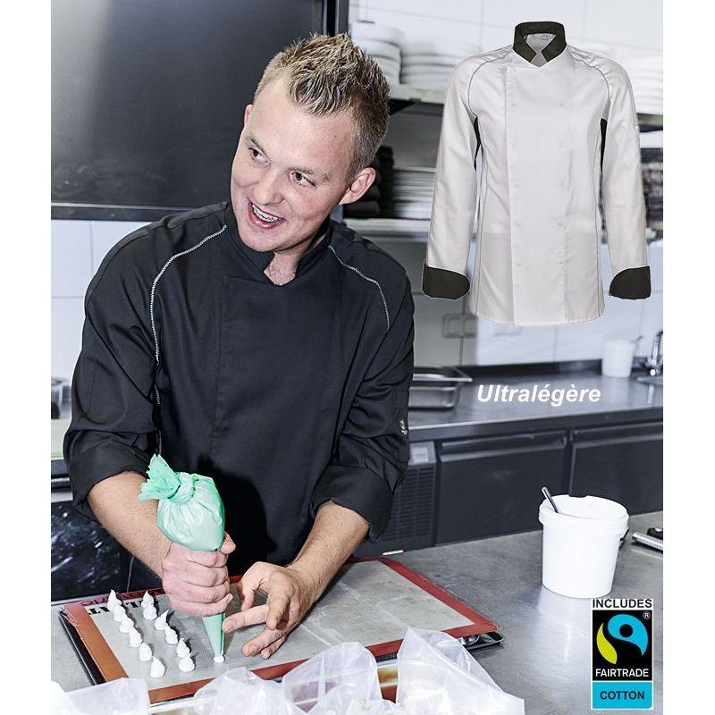 veste de cuisine ultral g re empi cement filet pour a ration et aisance. Black Bedroom Furniture Sets. Home Design Ideas