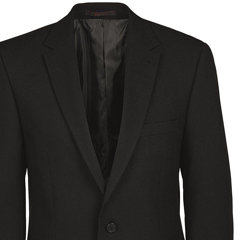 la réputation d'abord chaussures authentiques guetter Veste Homme Noire, 2 boutons, 100 % Polyester, Lavable en machine à 30°C