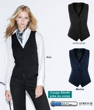 Gilet Femme, Coupe cintrée, 3 poches, très confortable