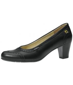 Chaussures femme cuir noir et doublure de veau, confortable