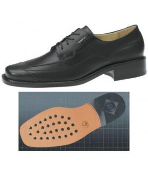 Chaussures homme cuir de veau, confortable, Semelle d'usure en cuir à inserts