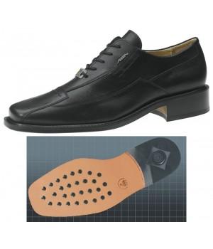 Chaussures homme noires cuir de veau, confortable, Semelle d'usure cuir