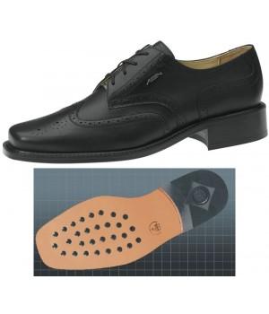 Chaussures homme cuir de veau, confort, Semelle d'usure en cuir à inserts