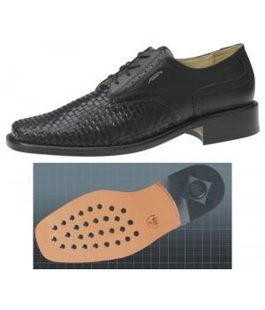 Chaussures homme, dessus en cuir de veau tressé, doublure cuir de veau, confortable, Semelle d'usure en cuir à inserts