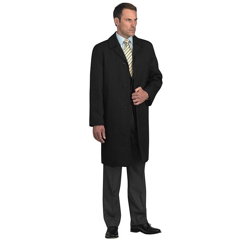52e059e91 Manteau Homme Noir, Laine et Polyester, 3 Boutons, Fente au dos