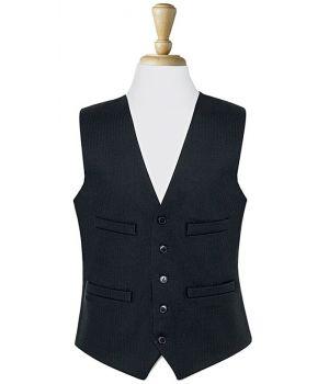 Gilet Noir de Costume Homme, 5 Boutons, Polyester et Laine