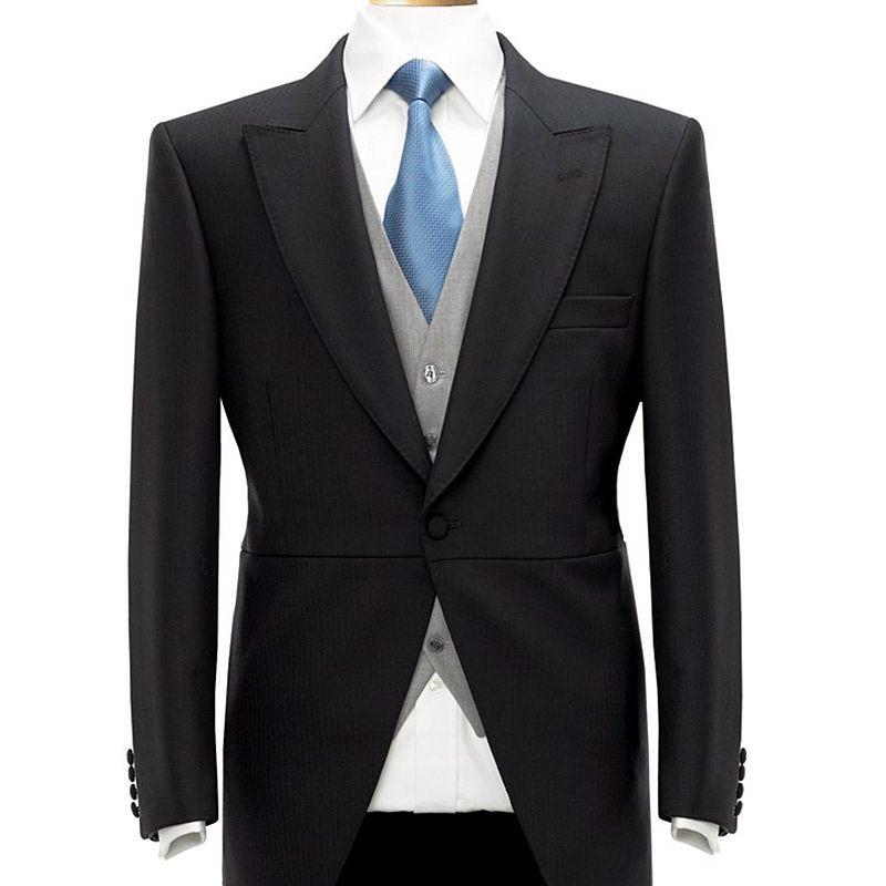 veste queue de pie noire pour homme 1 bouton 100 laine. Black Bedroom Furniture Sets. Home Design Ideas