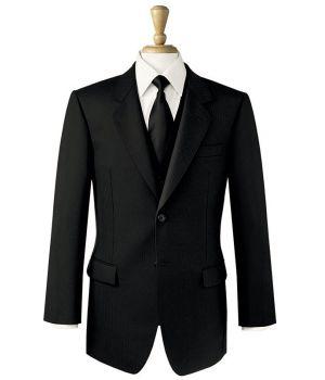 Veste Homme Noire, 2 Boutons, 2 Fentes à l'arrière, 100% Laine