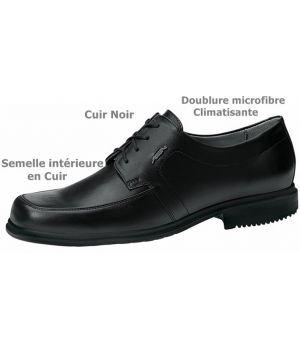 Chaussures Homme, Cuir Noir, Doublure climatisante, Semelle intérieure Cuir