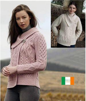 Cardigan Femme de style Irlandais, Luxe et Douceur, Laine Mérinos