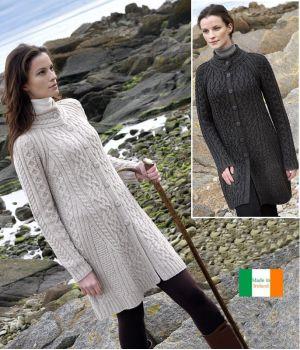 Manteau Femme Irlandais, Laine Mérinos extra douce