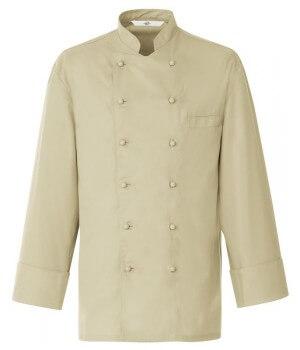 Veste chef, couleur Beige, Coton et Trevira chic et confortable