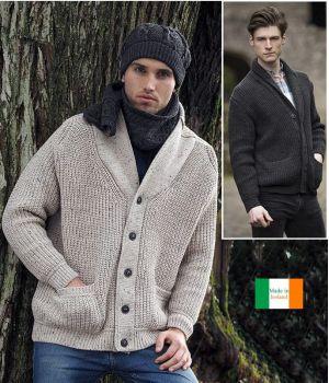 Veste Irlandaise Homme, Poches plaquées, Coupe Tendance