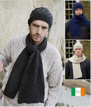 Echarpe traditionnelle Irlandaise, Laine Mérinos et Cachemire
