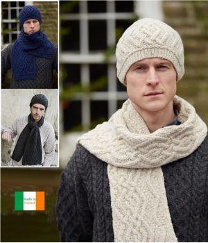 Bonnet traditionnel Irlandais, Laine Mérinos douce et cachemire