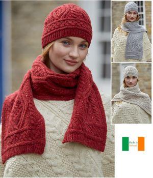 Echarpe traditionnelle Irlandaise, luxe et douceur, Laine Mérinos et Cachemere