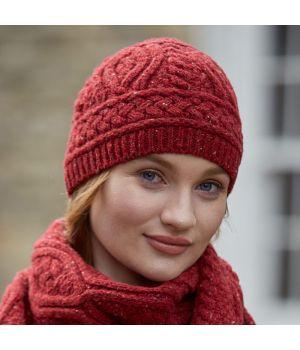 Bonnet traditionnel Irlandais, luxe et douceur, Laine Mérinos et Cachemere