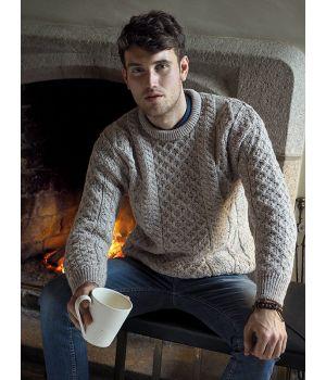 Pullover Irlandais, ras de cou, 100% pure laine vierge, pour homme et femme