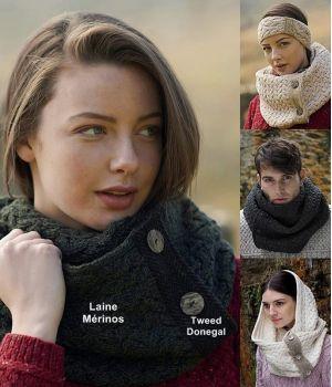 Echarpe Irlandaise pour Femme et Homme, Laine Mérinos et Tweed