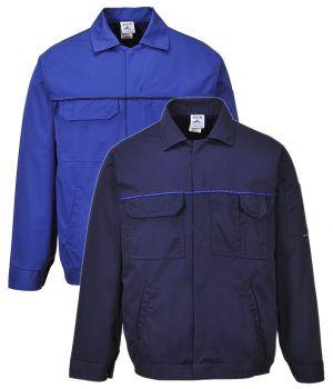 Veste travail, pression sous patte, polyester coton