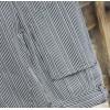 pantalon ciusinier rayé noir-gris