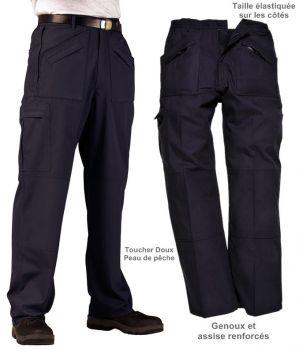Pantalon Action classique, toucher Peau de pêche