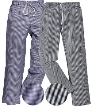 Pantalon de cuisine, Style Jogging, Taille élastiquée, Cordon de serrage
