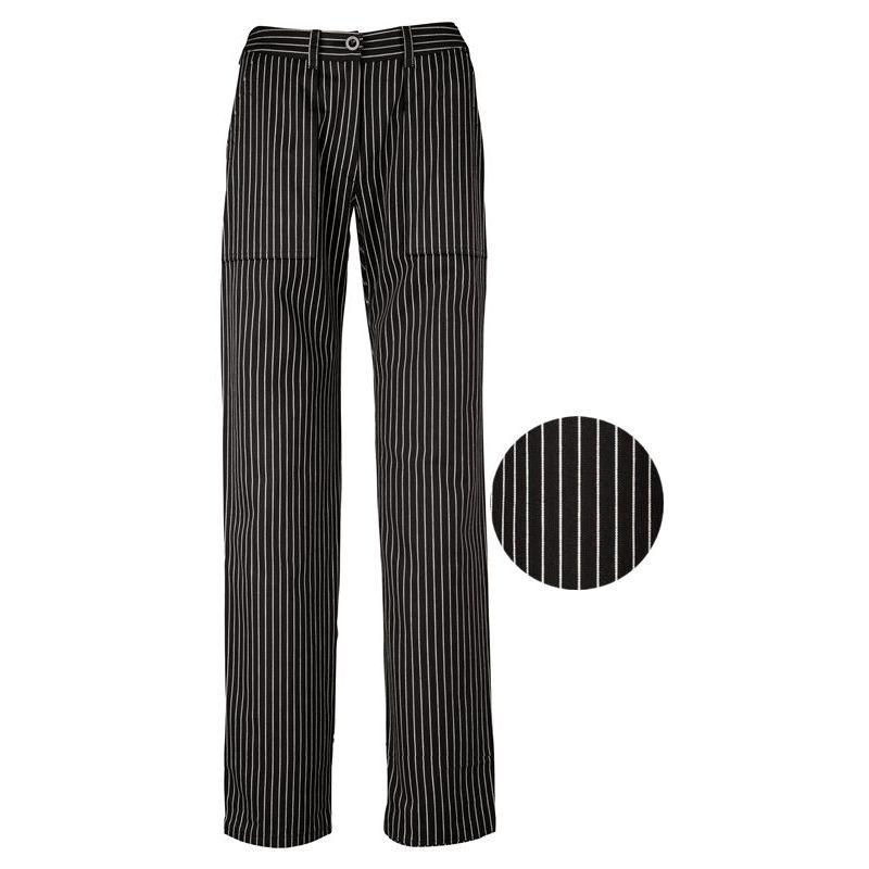 542fc12857d2 Pantalon de Cuisine Femme, Rayures Noir et Blanc, Coton pouvant bouillir