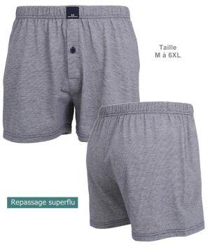 Short Boxer, Coupe confortable, Gris, Coton et Polyester