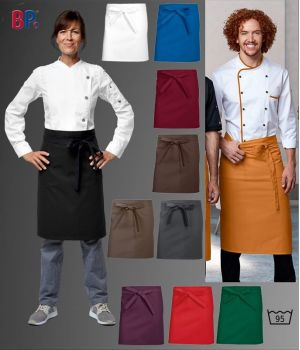 Tablier bistro, Tablier serveuse, restaurant, brasserie, 60 x 75 cm, Le pack de 3