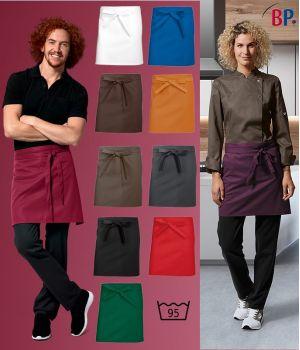 Tablier bistro court, Tablier serveur, serveuse, bar, restaurant, 45 x 75 cm, Le pack de 3