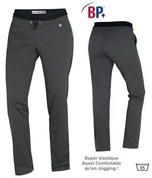 Pantalon Super Confort femme, Anthracite, Taille élastiquée en tricot