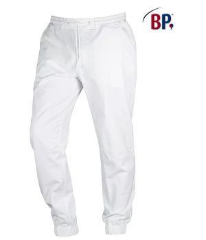Pantalon Blanc Super Confort Homme, Bi-Stretch, Taille élastiquée en Tricot