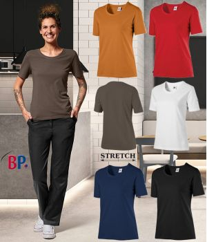 T-shirt Femme, Manche 1/2, Col Rond, Stretch Confort, Modern fit