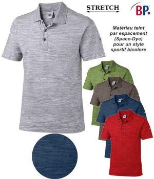 Polo Femme et Homme, Teint par espacement pour Style Sport Bicolore