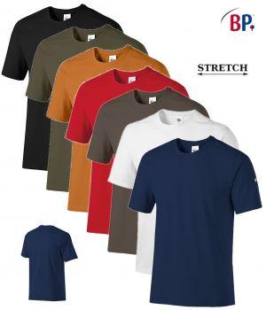 T-shirt Femme et Homme, Col Rond, Confort Stretch, Modern Fit près du corps