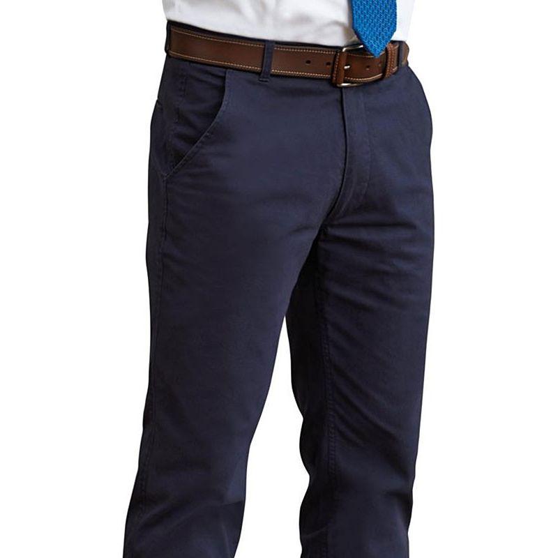 a61dc08e833a9 Pantalon Chino Homme, Coupe Slim, Sans pinces, Ceinture Extensible