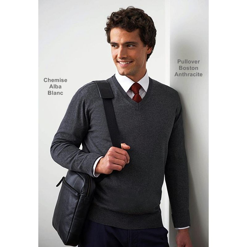 Chemise Coupe Slim Fit Manches Longues Polyester Coton