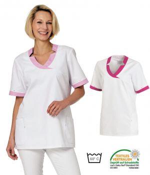 Blouse Médicale Femme Bicolore, 2 poches latérales et 2 poches bipeur