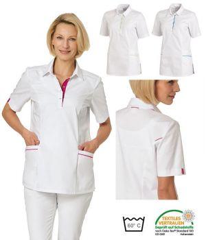 Blouse Médicale Femme Bi-colore, Boutons Pressions sous Patte