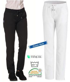 Pantalon Femme, Taille élastiquée, Tissu Tencel Confort, 2 poches latérales