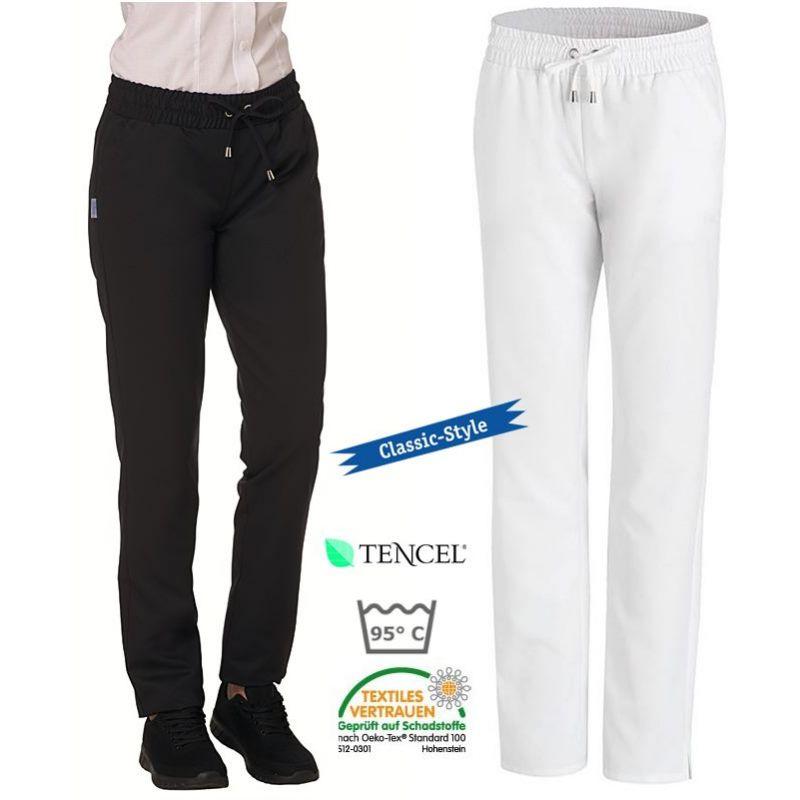 pantalon femme taille lastiqu e tissu tencel confort 2. Black Bedroom Furniture Sets. Home Design Ideas