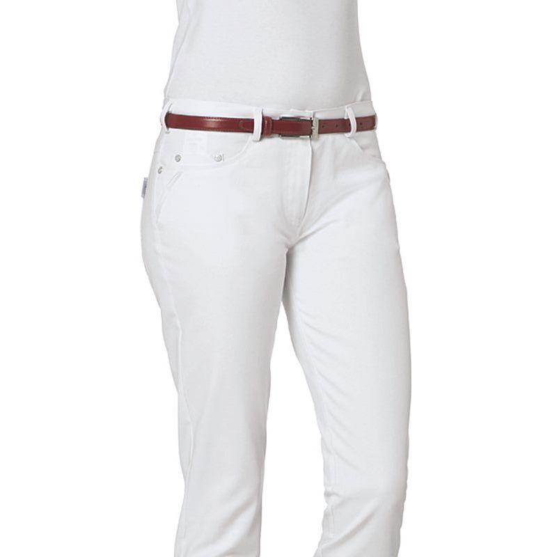 Pantalon Blanc Femme, 5 poches, Rivets décoratifs, Stretch, Peut Bouillir ·  Pantalon médical blanc pour femme stretch coton majoritaire (97 % ... 298bf4ce2c6d