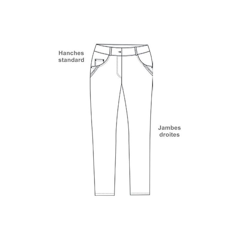 Pantalon Blanc Femme, 5 poches, Rivets décoratifs, Stretch, Peut ... 60e7504653ad