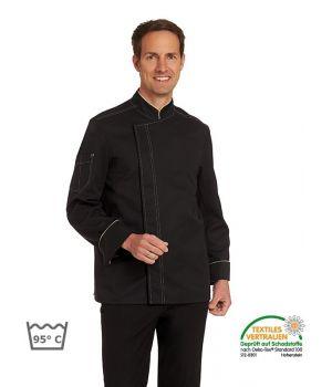 Veste de Cuisine, Tissu Confort Lyocell et Polyester, Passepoil et surpiqures