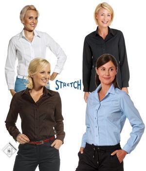 Chemisier Stretch extrêmement confortable, manches longues, parfaitement ajusté