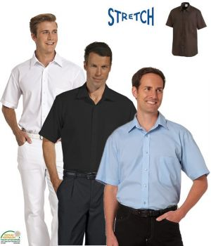 Chemise Homme, manches courtes, Stretch extrêmement confortable à porter